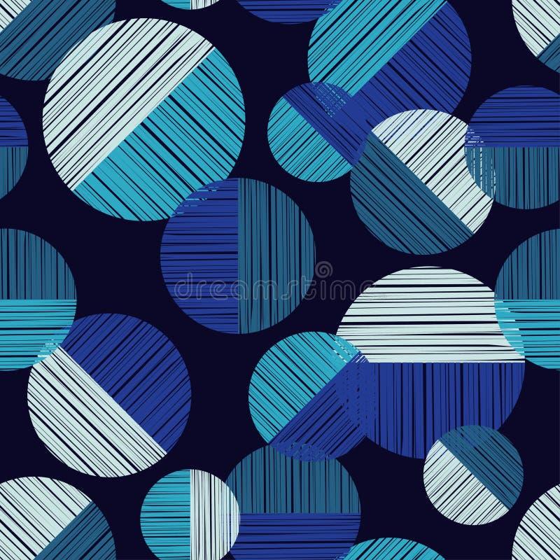 Sömlös modell för prick Texturlinje royaltyfri illustrationer
