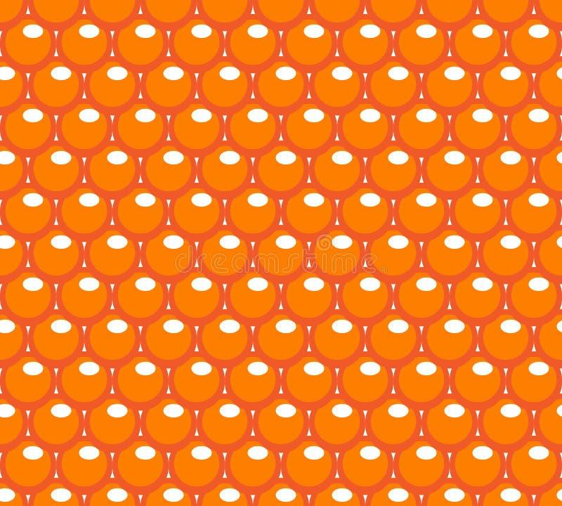 Sömlös modell för röd kaviar Ändlös bakgrund för fiskrom, textur, tapet också vektor för coreldrawillustration vektor illustrationer