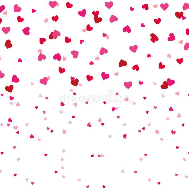 Sömlös modell för röd och rosa förälskelsehjärtaromantiker royaltyfri illustrationer