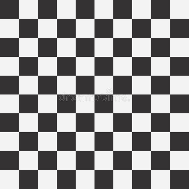 Sömlös modell för schackbräde vita dynamiska fyrkanter för abstrakt bakgrundsblack rutig bakgrund vektor stock illustrationer