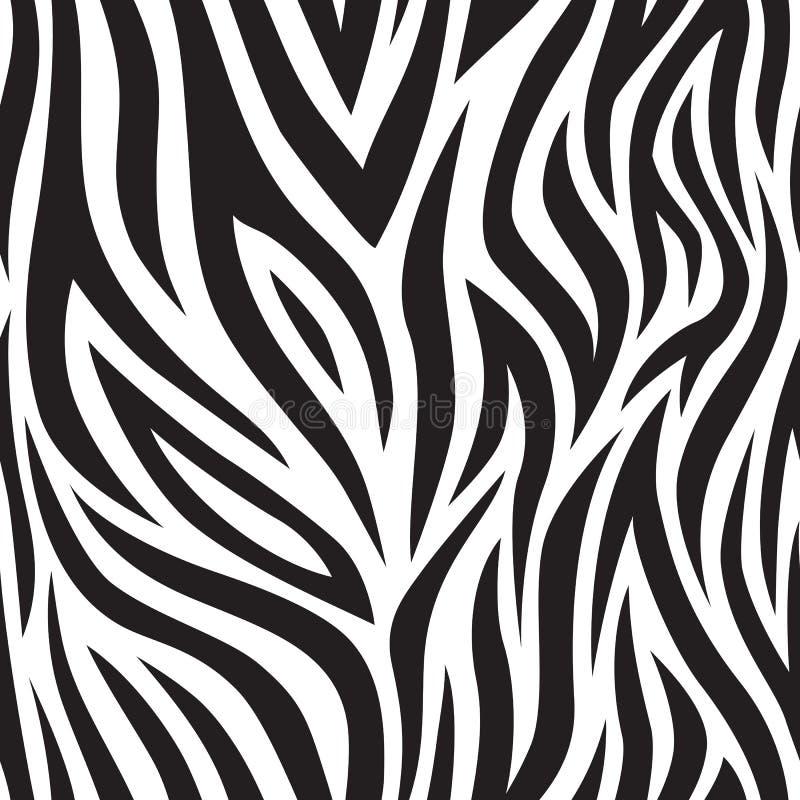 Sömlös modell för sebra Svartvita tigerband Populärt texturera royaltyfri illustrationer