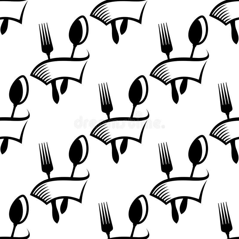 Sömlös modell för sköta om eller matsymbol royaltyfri illustrationer