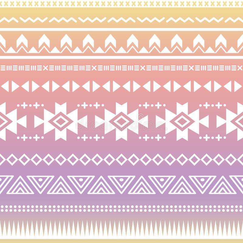 Sömlös modell för stam- aztec ombre royaltyfri illustrationer