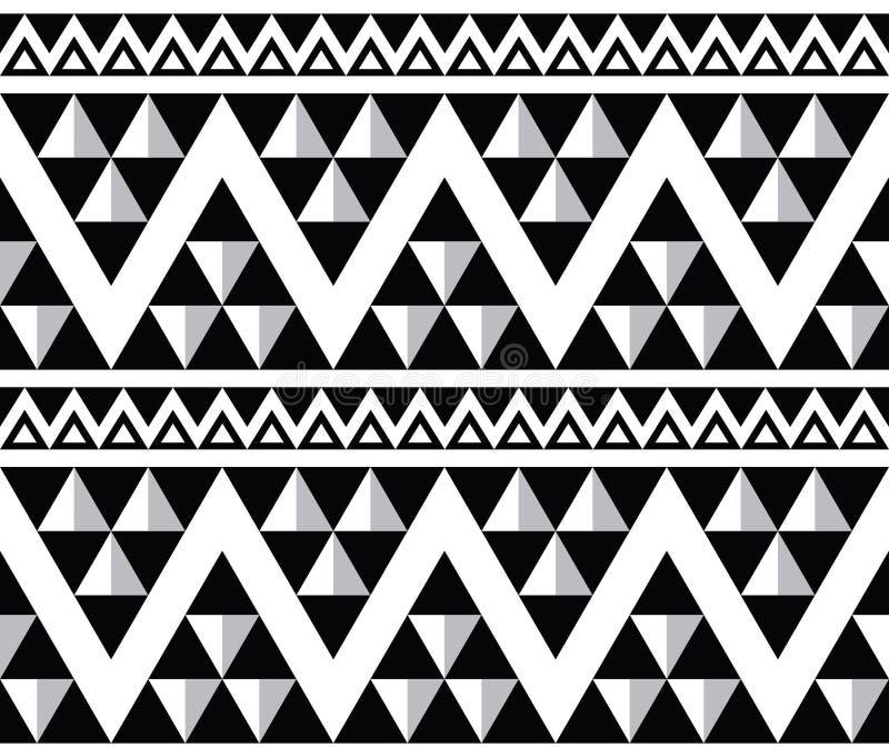 Sömlös modell för stam- aztecabstrakt begrepp vektor illustrationer