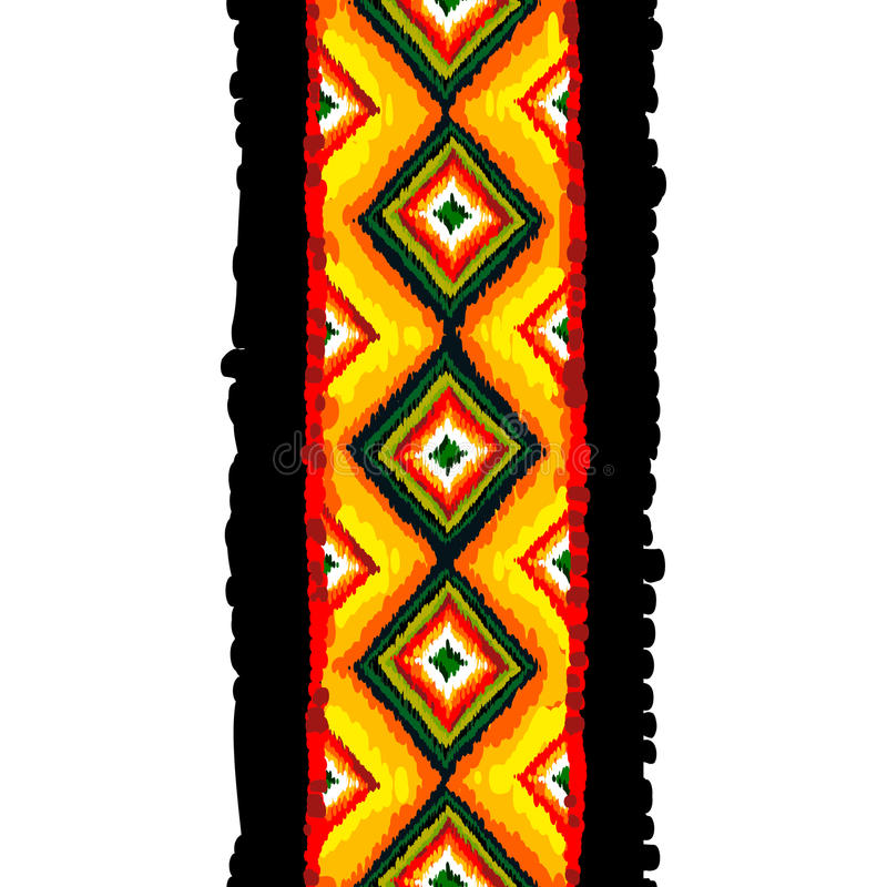 Sömlös modell för stam- vektor abstrakt bakgrund tecknad hand royaltyfri illustrationer