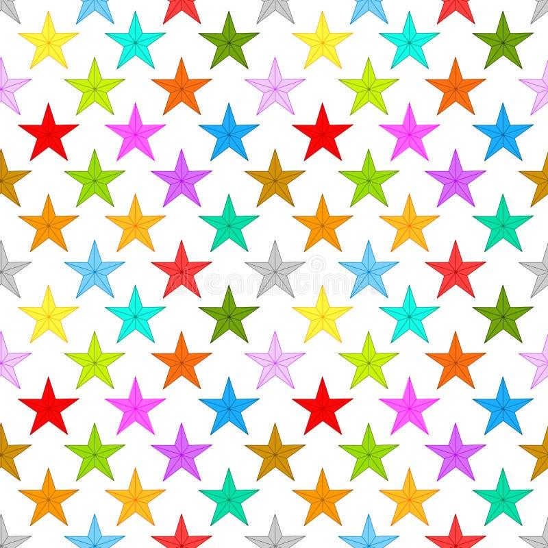 Sömlös modell för stjärnabakgrund stock illustrationer