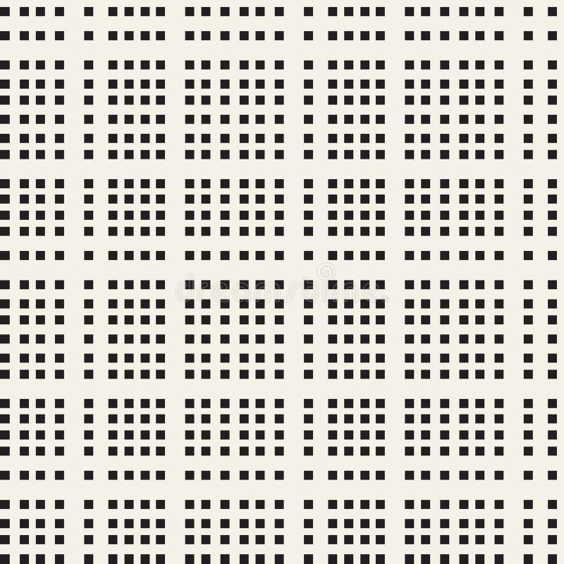 Sömlös modell för svartvit rutig vektor stock illustrationer