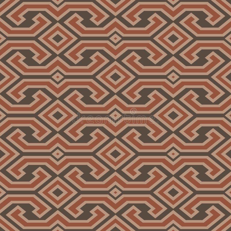 Sömlös modell för tappningToraja färg Etnisk vektor texturerade lodisar royaltyfri illustrationer