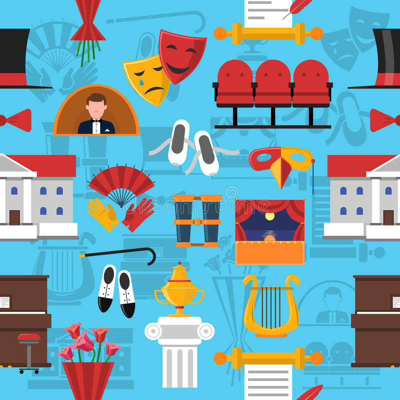 Sömlös modell för teater royaltyfri illustrationer