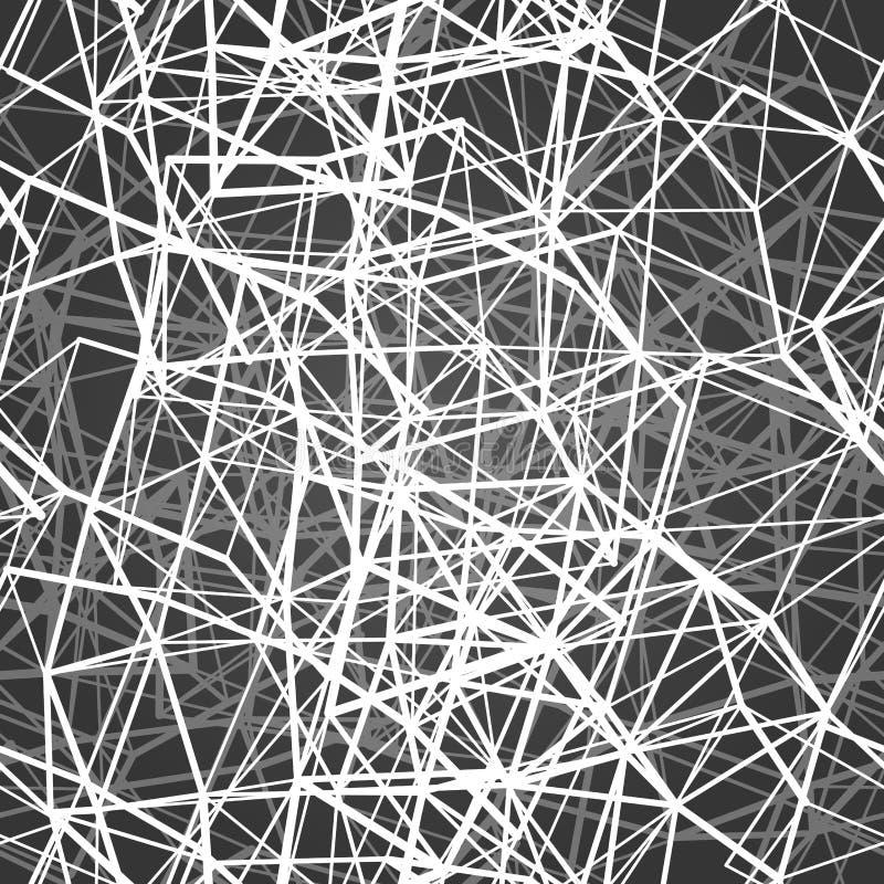 Sömlös modell för textil av linjer med vita texturtrianglar vektor illustrationer