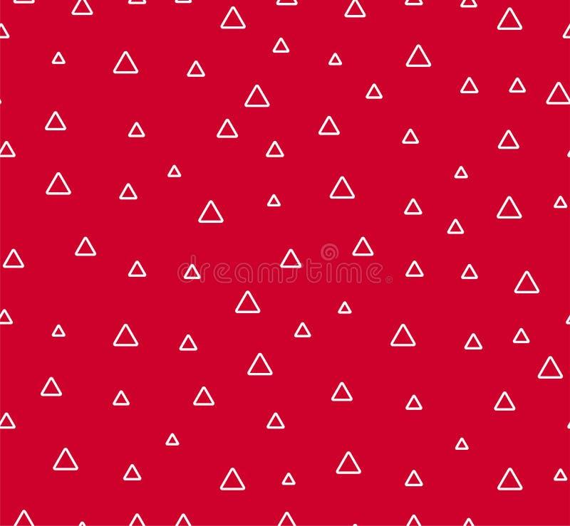Sömlös modell för triangelabctract Röd bakgrund med geometrisk form stock illustrationer