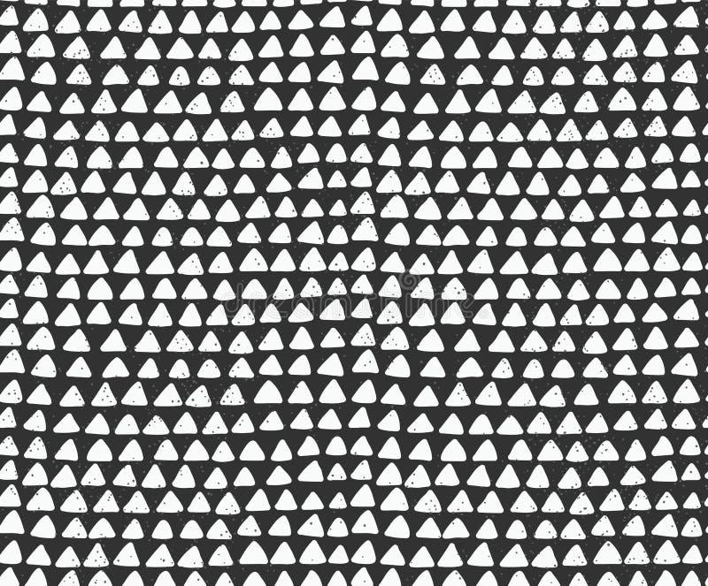 Sömlös modell för tuschtrianglar vektor illustrationer