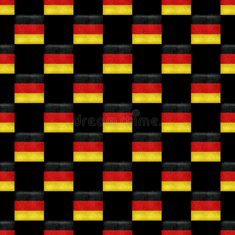 Sömlös modell för TysklandGrunge royaltyfri illustrationer