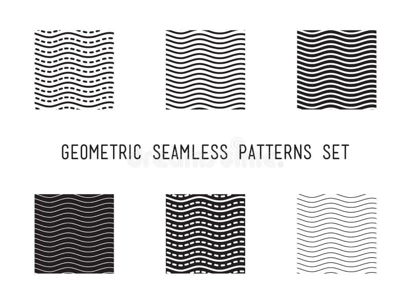 Sömlös modell för universell våg för vektor direkt geometrisk royaltyfri illustrationer