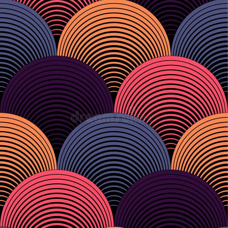 Sömlös modell för utsmyckad geometrisk kronbladrastervektor stock illustrationer