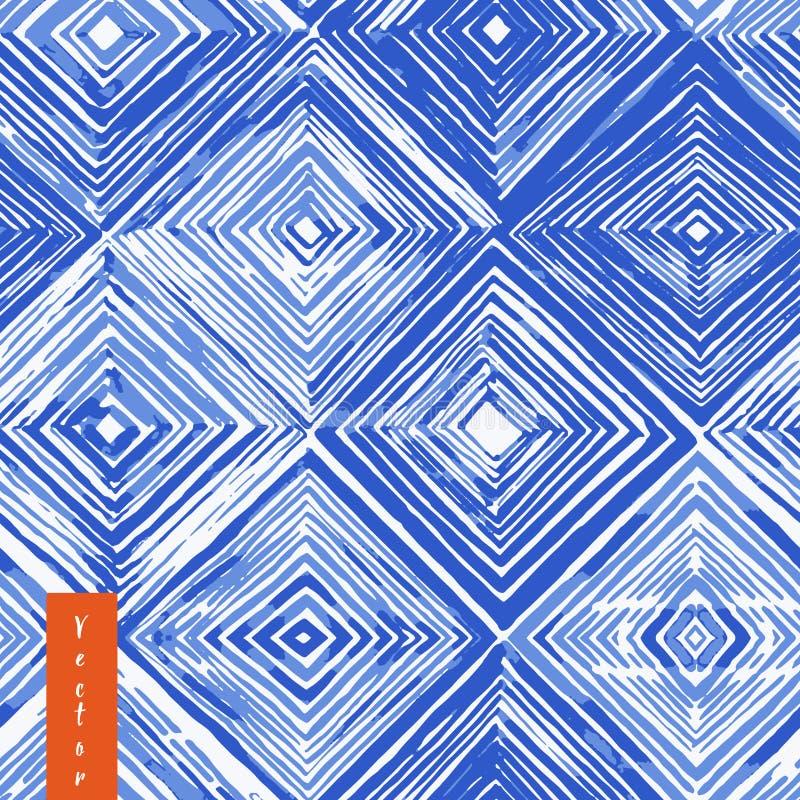 Sömlös modell för vattenfärgshibori royaltyfri bild