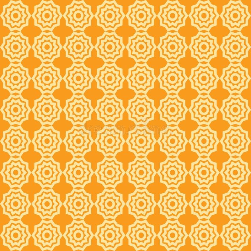 Sömlös modell för vektor av abstrakta stjärnor, utmärkt för textil eller bakgrund royaltyfri illustrationer