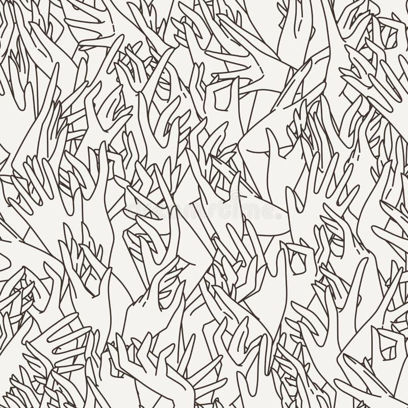Sömlös modell för vektor av behagfulla kvinnliga händer vektor illustrationer