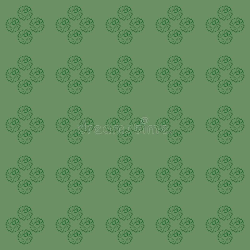 Sömlös modell för vektor av blomman som creatively göras från pengarillustration royaltyfri illustrationer