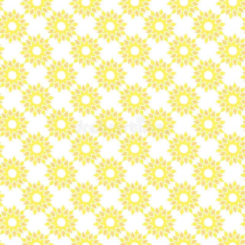 Sömlös modell för vektor av den abstrakta solrosen i minimalist stil stock illustrationer