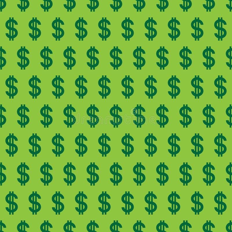 Sömlös modell för vektor av dollar royaltyfri illustrationer