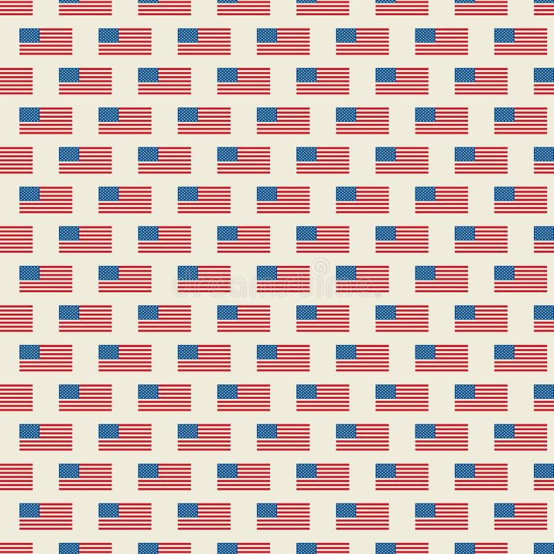 S?ml?s modell f?r vektor av USA flaggan stock illustrationer