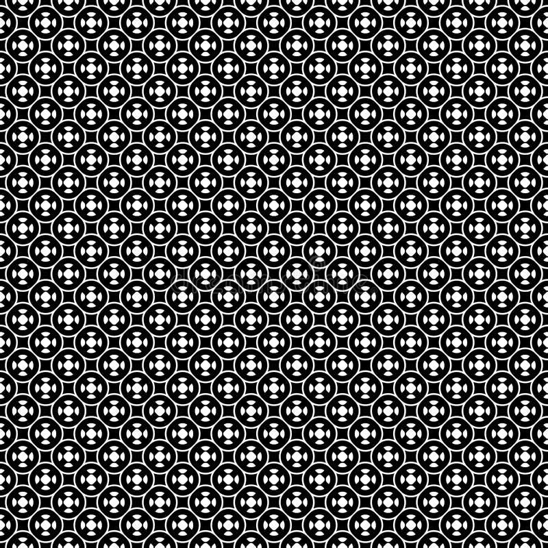 Sömlös modell för vektor, enkel geometrisk prydnad royaltyfri illustrationer