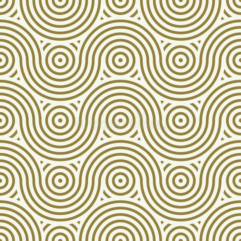 Sömlös modell för vektor, grafiskt geometriskt inpackningspapper Abstr royaltyfri illustrationer