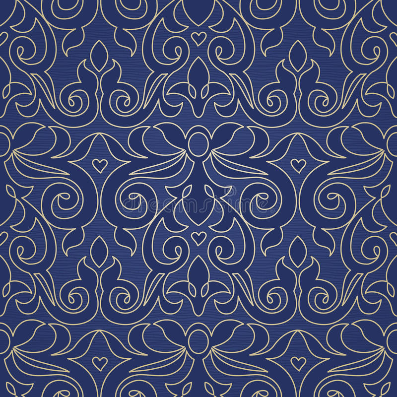 Sömlös modell för vektor i viktoriansk stil stock illustrationer