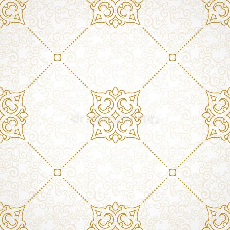 Sömlös modell för vektor i viktoriansk stil royaltyfri illustrationer