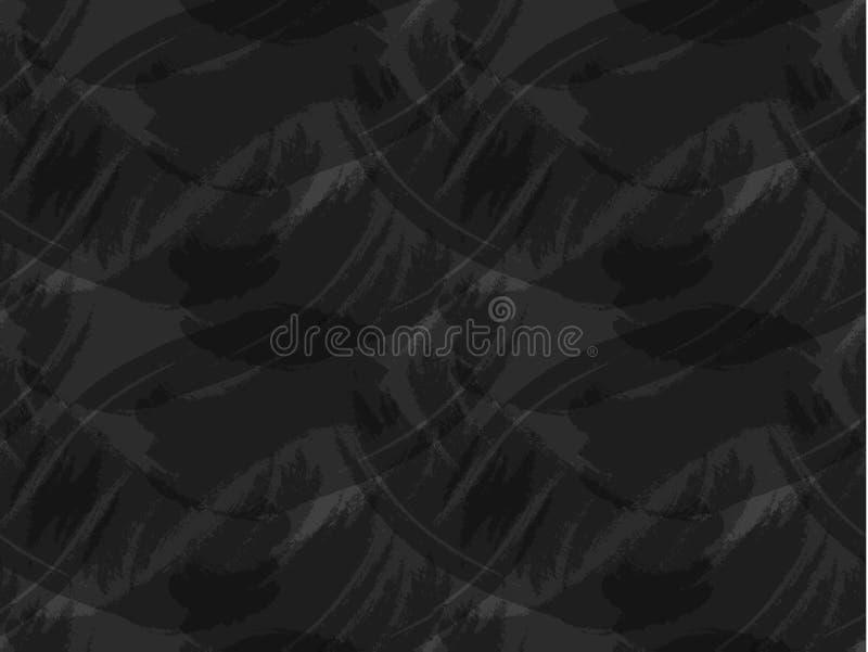 Sömlös modell för vektor, mörk bakgrund, svart tavla royaltyfri illustrationer