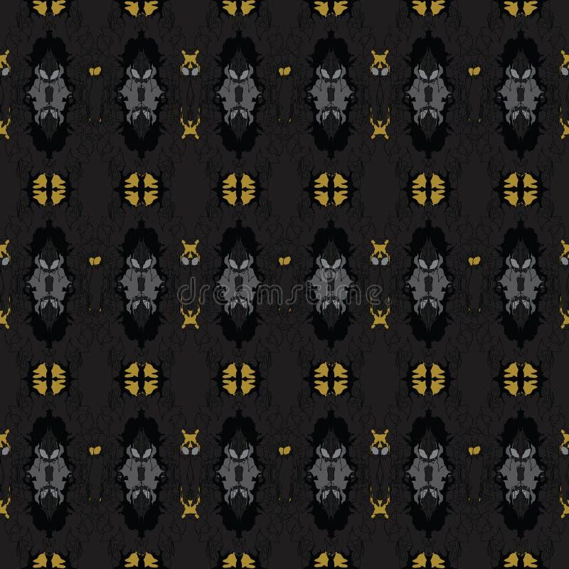Sömlös modell för vektor med abstrakta blom- texturer stock illustrationer