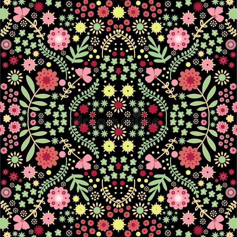 Sömlös modell för vektor med den härliga risal blomman royaltyfri fotografi