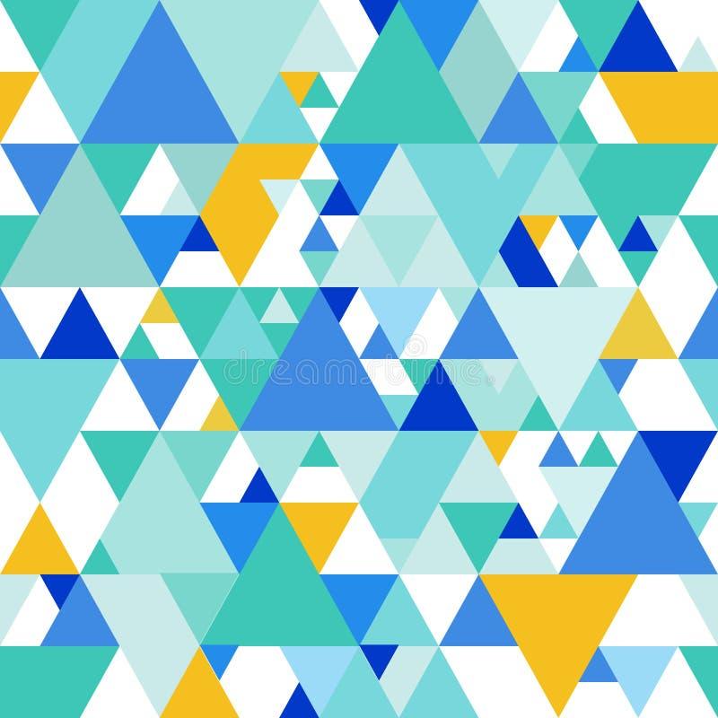 Sömlös modell för vektor med färgrika trianglar royaltyfri illustrationer