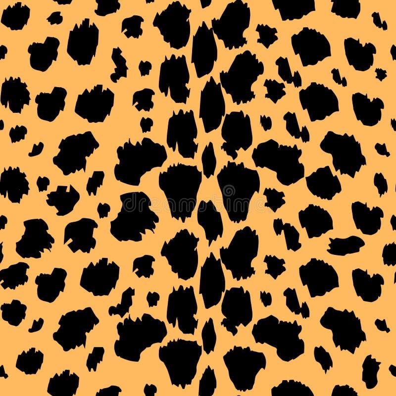 Sömlös modell för vektor med leopardpälstextur Upprepa leopardpälsbakgrund för textildesign, tapetserar inpackningspapper, nolla vektor illustrationer