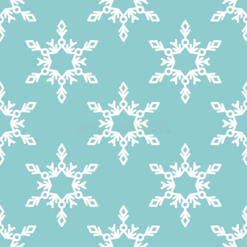 Download Sömlös Modell För Vektor Med Snöflingor Vinter För Blåa Snowflakes För Bakgrund Vit Vektor Illustrationer - Illustration av ferie, fryst: 78725136