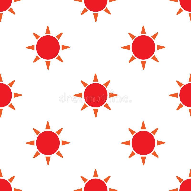 Sömlös modell för vektor med solen Yttersida för inpackningspapper, skjortor, torkdukar, Digital papper royaltyfri illustrationer