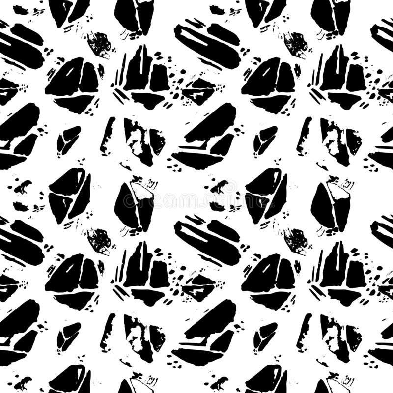 Sömlös modell för vektor med utdragen textur för grungehand royaltyfri illustrationer