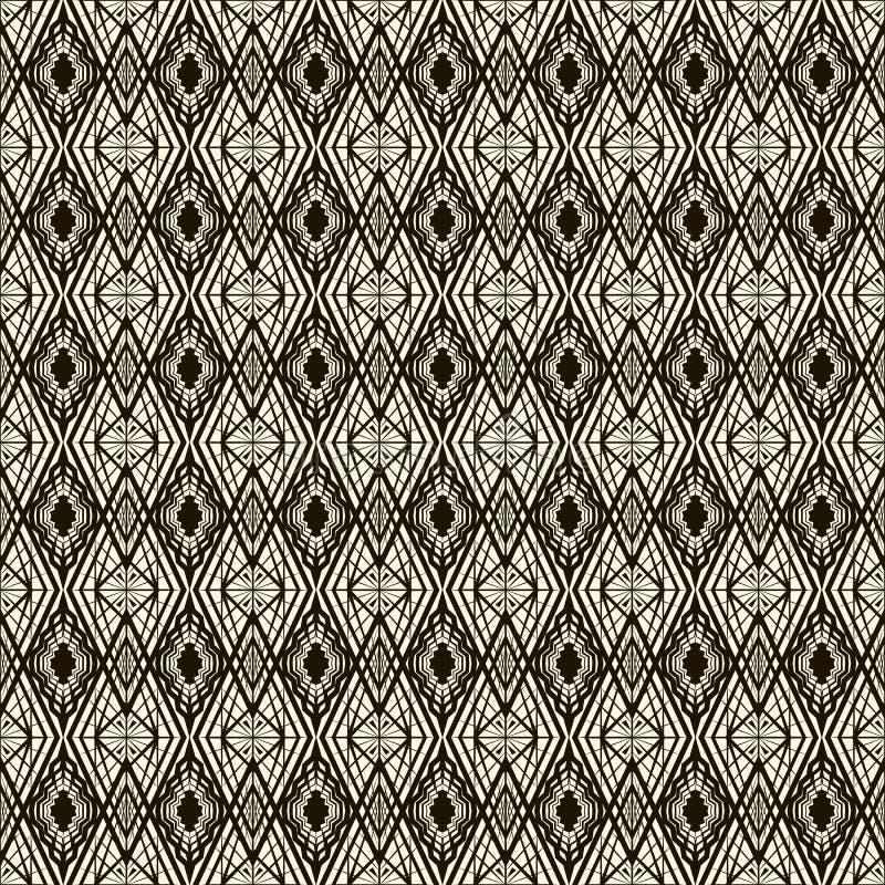 Sömlös modell för vektor, stilfull textur för art déco Upprepa geo stock illustrationer