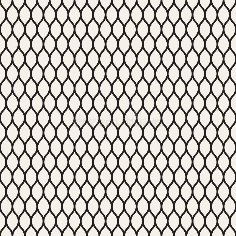Sömlös modell för vektor, svarta tunna krabba linjer royaltyfri illustrationer