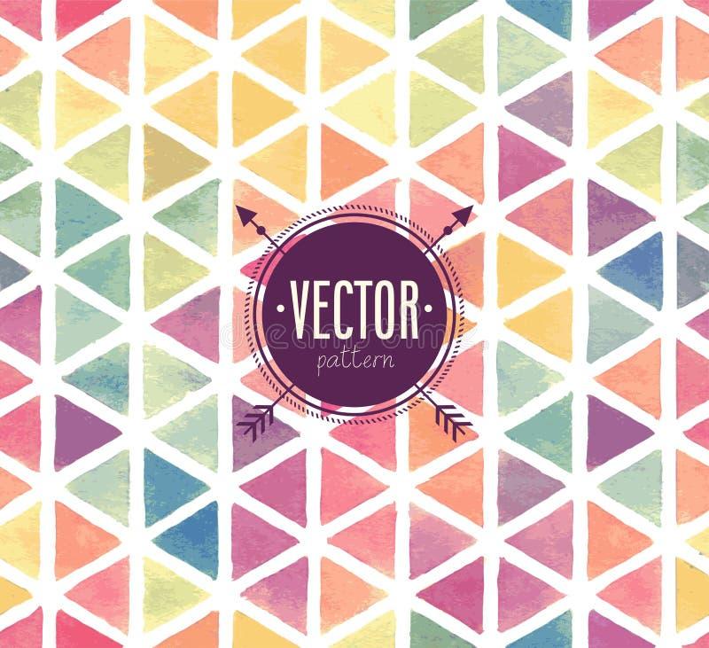 Sömlös modell för vektorvattenfärg vektor illustrationer