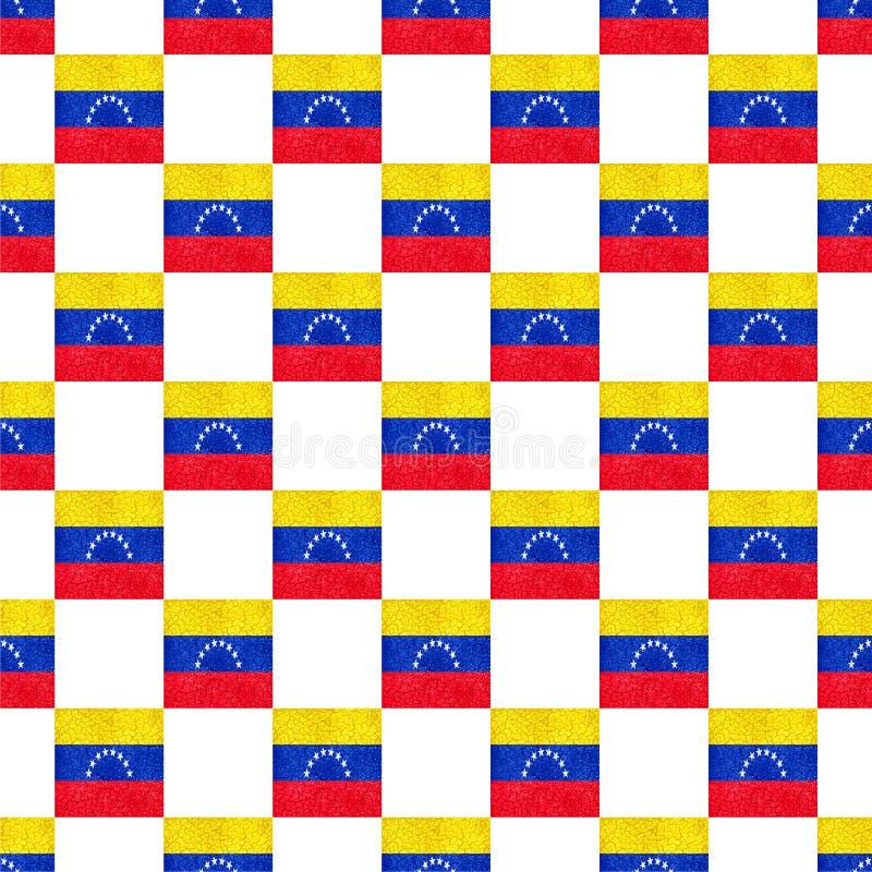 Sömlös modell för Venezuela Grungeflagga vektor illustrationer