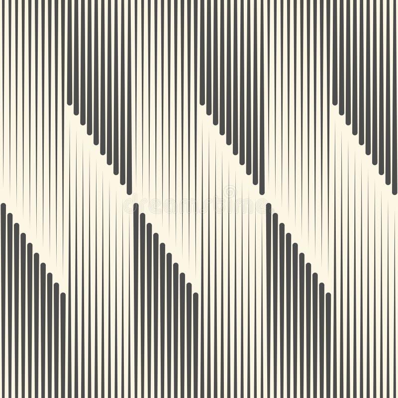 Sömlös modell för vertikalt band Svartvit linje lodisar för vektor stock illustrationer