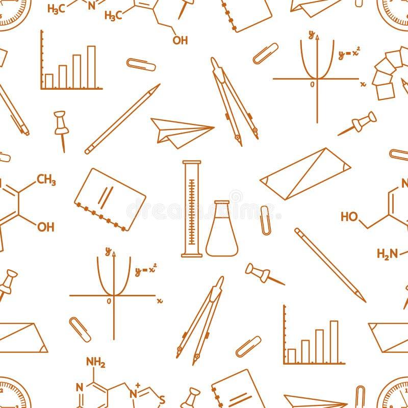 Sömlös modell för vetenskaplig bildande vektor royaltyfri illustrationer