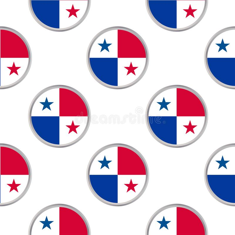 Sömlös modell från cirklarna med flaggan av republiken av Pan Am vektor illustrationer