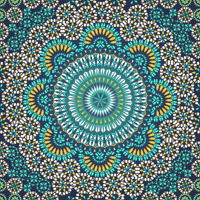 Sömlös modell i etnisk stil för mosaik. stock illustrationer