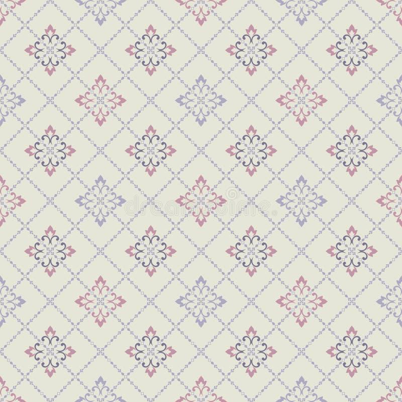 Sömlös modell i marockansk stil Mosaisk tegelplatta Islamisk traditionell prydnad vektor illustrationer