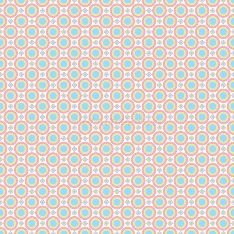 Sömlös modell - kulöra pastellfärgade geometriska klottermodeller på vit bakgrund H?g inklusive res-JPEG stock illustrationer