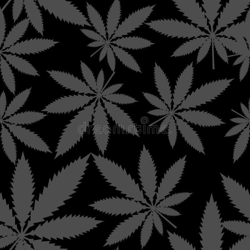 Sömlös modell - marijuanacannabis vektor vektor illustrationer