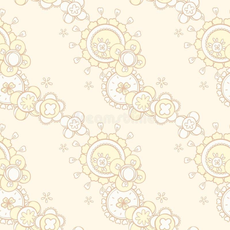 Sömlös modell med abstrakt blom- design vektor illustrationer
